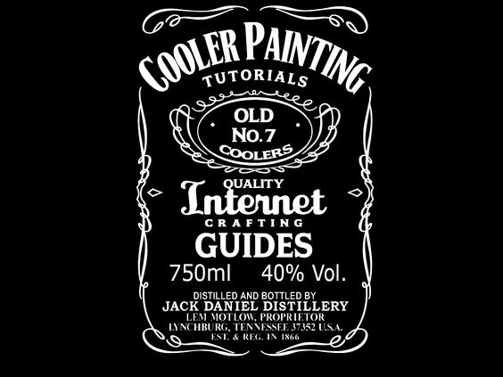 Cooler Painting Coolers and Jack Daniels On Pinterest