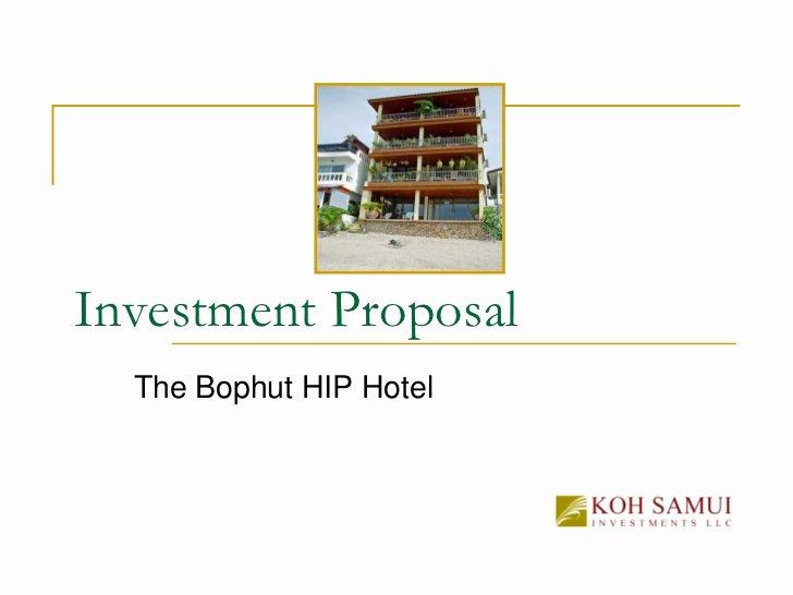 Copy Investment Proposal the Bophut Building Boutique Hotel