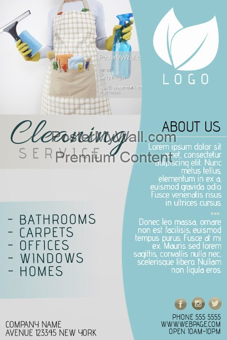Copy Of Cleaning Service Flyer Template Blue