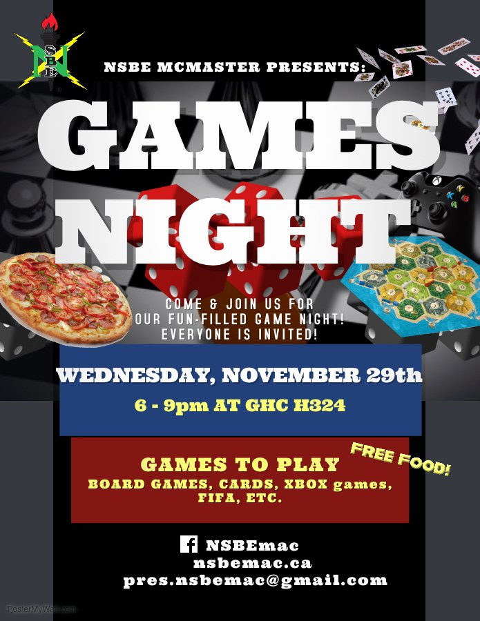 Copy Of Game Night Flyer Template Nsbe Mcmaster