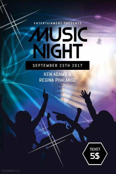 Copy Of Music Night Flyer Template