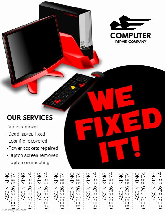 Copy Of Puter Repair Flyer
