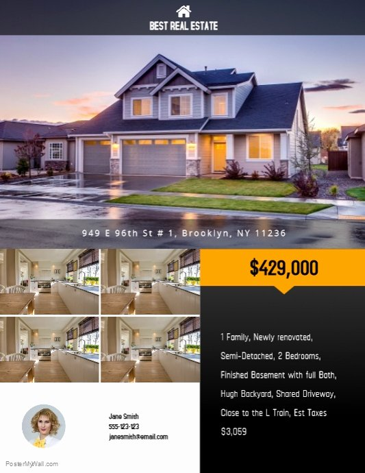 Copy Of Real Estate Flyer Template