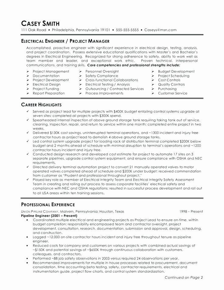Core Petencies In Resumes Resume Skills and