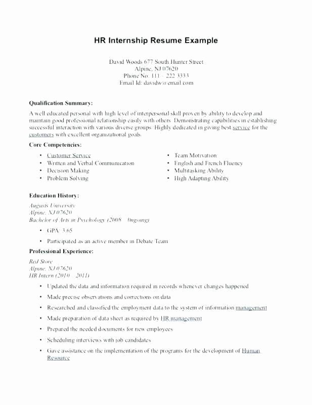 Core Petencies Resume Examples Fresh Core Petency