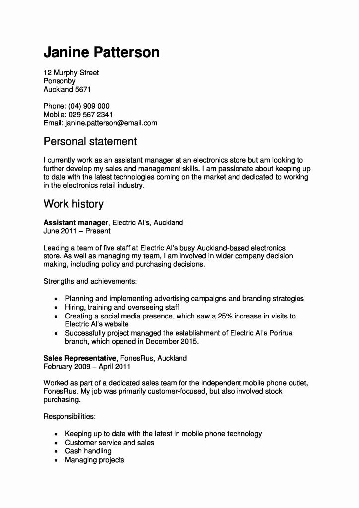 Core Qualifications Examples for Resume New Skill for