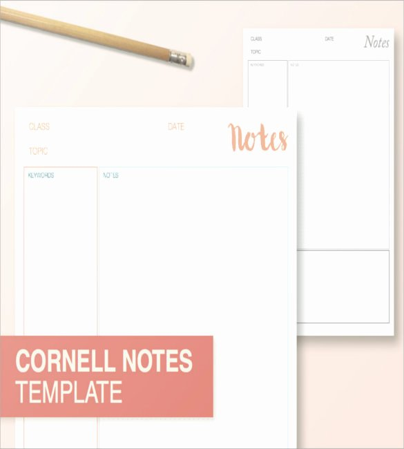 Cornell Note Taking Template 8 Free Word Excel Pdf