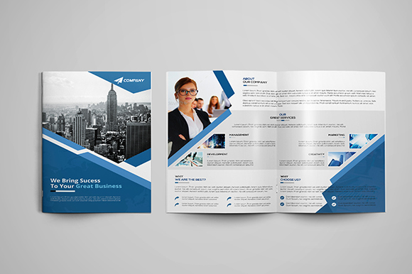 Corporate Bi Fold Brochure Brochure Templates On