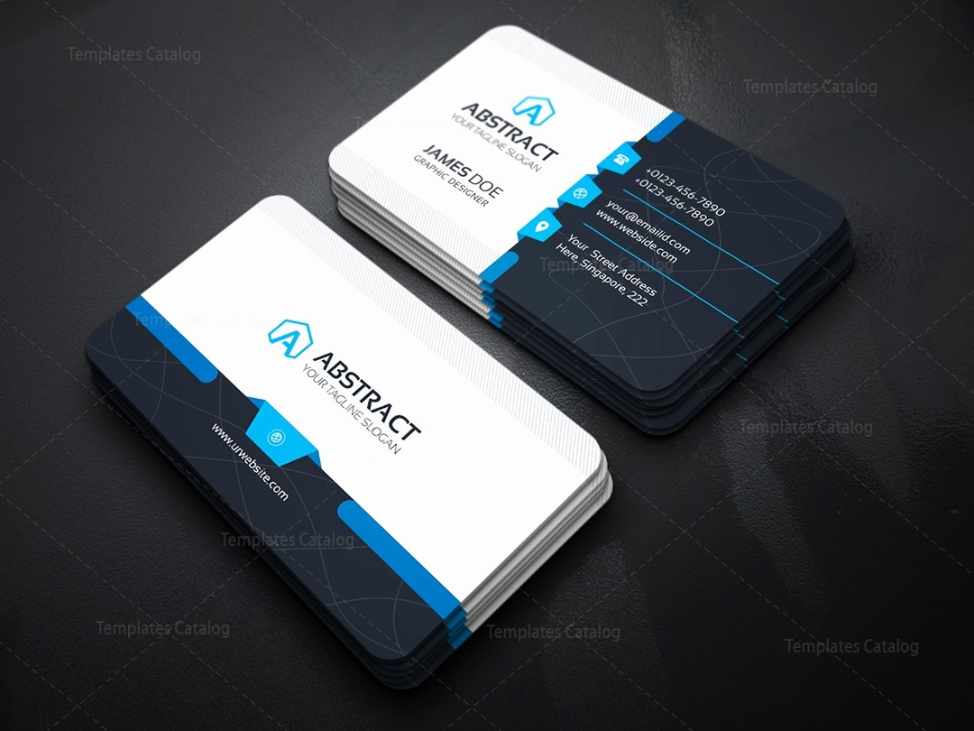 Corporate Business Card Template Template Catalog