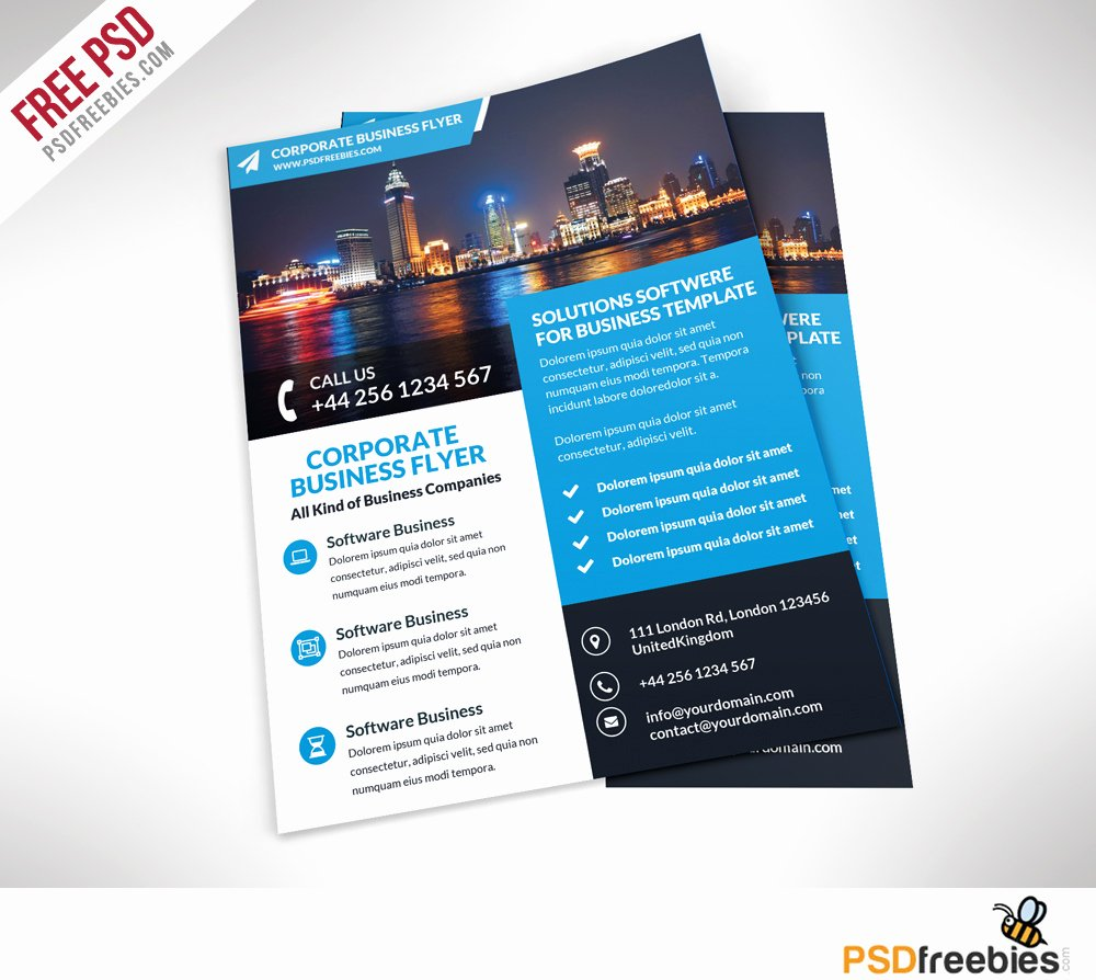 Corporate Business Flyer Free Psd Template – Psdfreebies