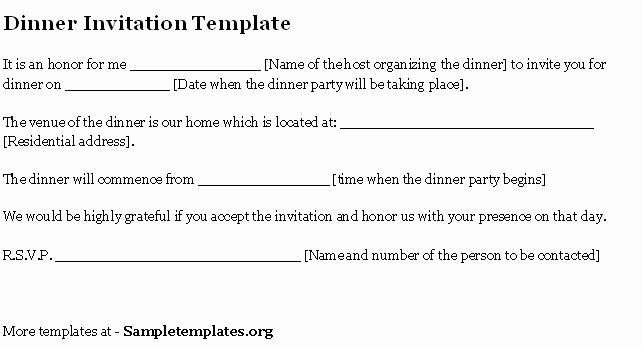Corporate Dinner Invitation Email Template Templates