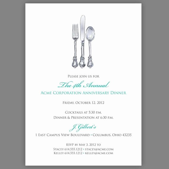 Corporate Dinner Invitation Pany Dinner Invitation
