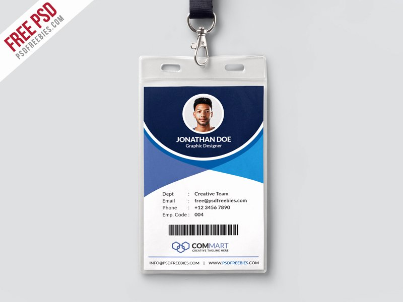 Corporate Fice Identity Card Template Psd