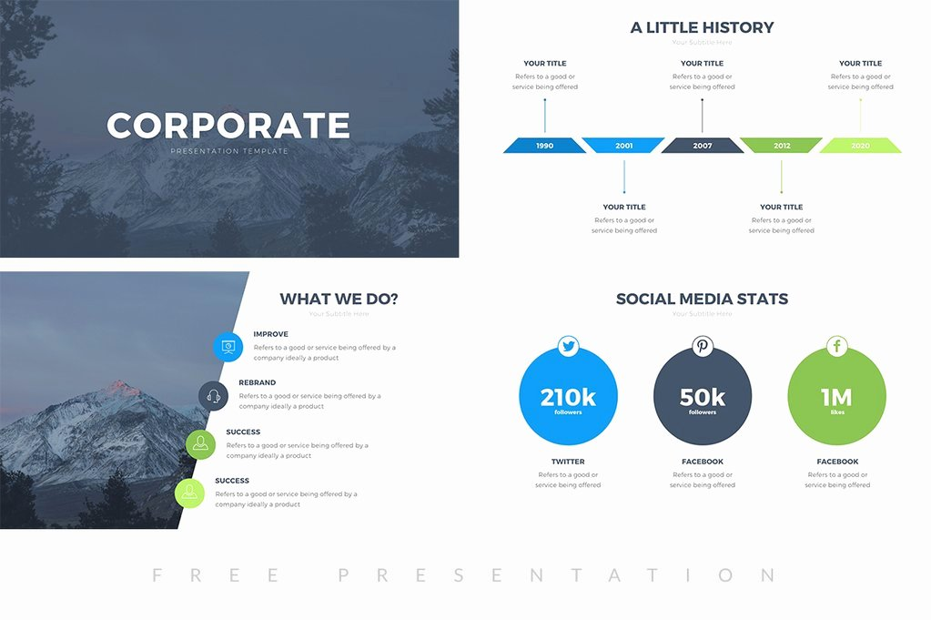 Corporate Free Presentation Template Presentations