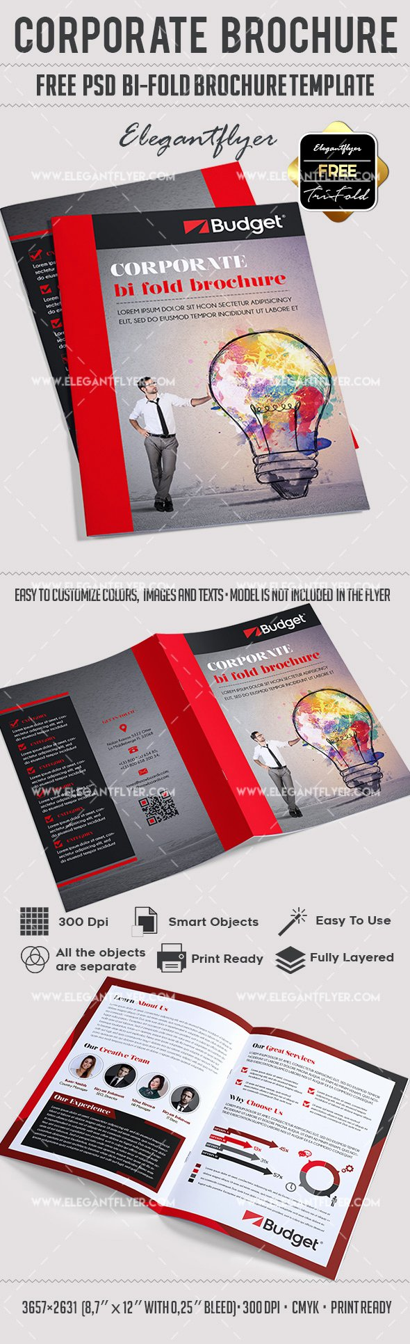 Corporate – Free Psd Bi Fold Psd Brochure Template – by