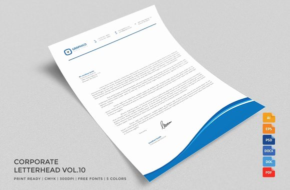 Corporate Letterhead 10 with Ms Word Stationery