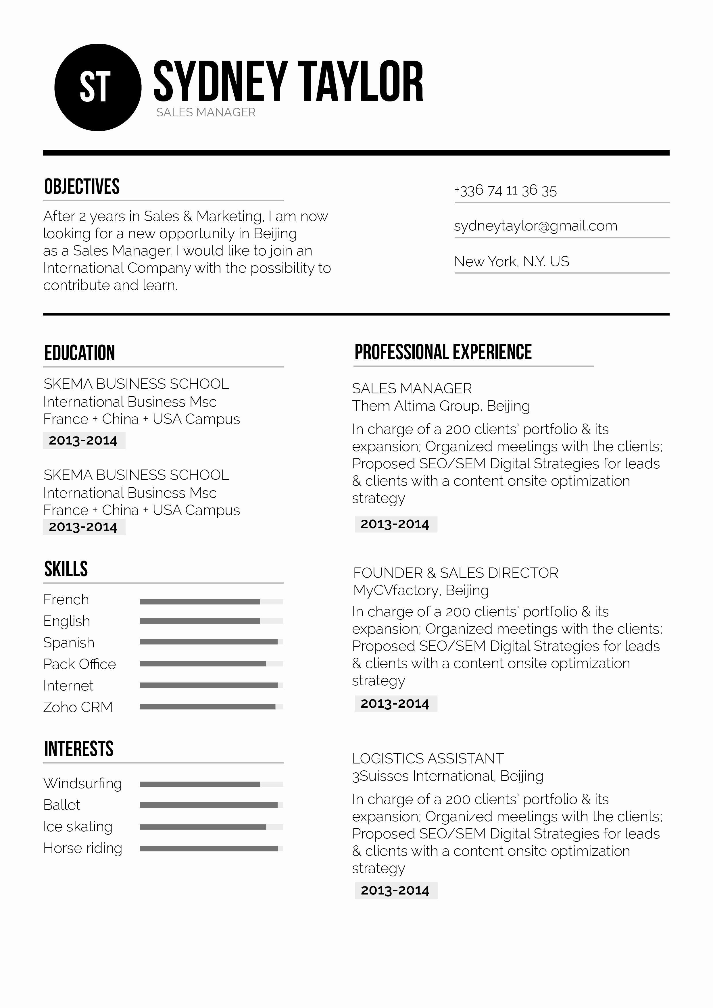 Correct Resume format Bongdaao
