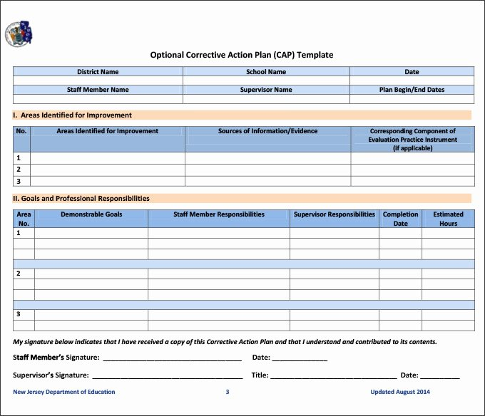 Corrective Action Plan Template 25 Free Word Excel Pdf