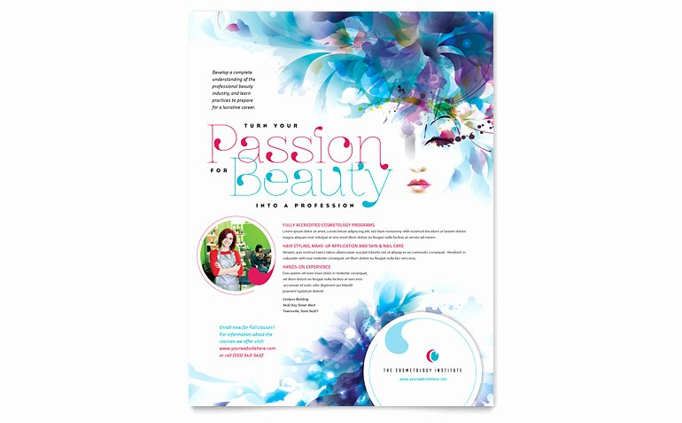 Cosmetology Flyer Template Word & Publisher
