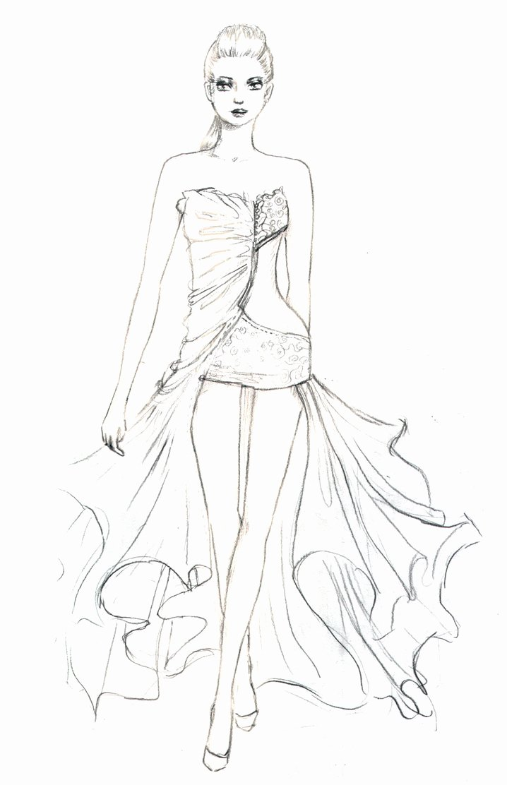 Costume Design Template Coloring Coloring Pages