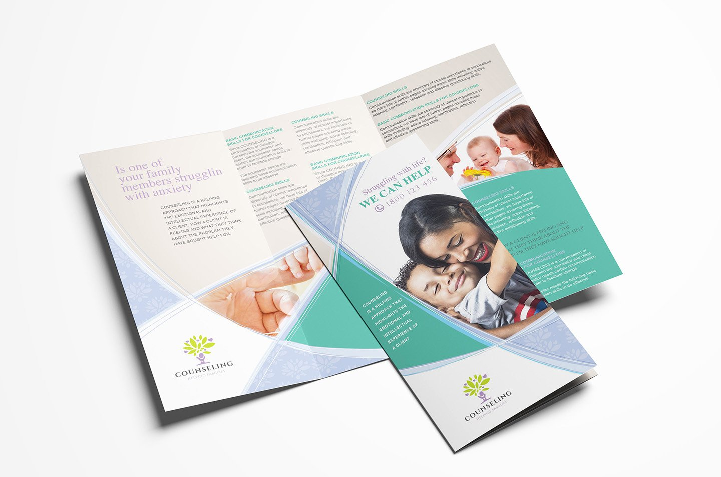 Counselling Service Tri Fold Brochure Template In Psd Ai