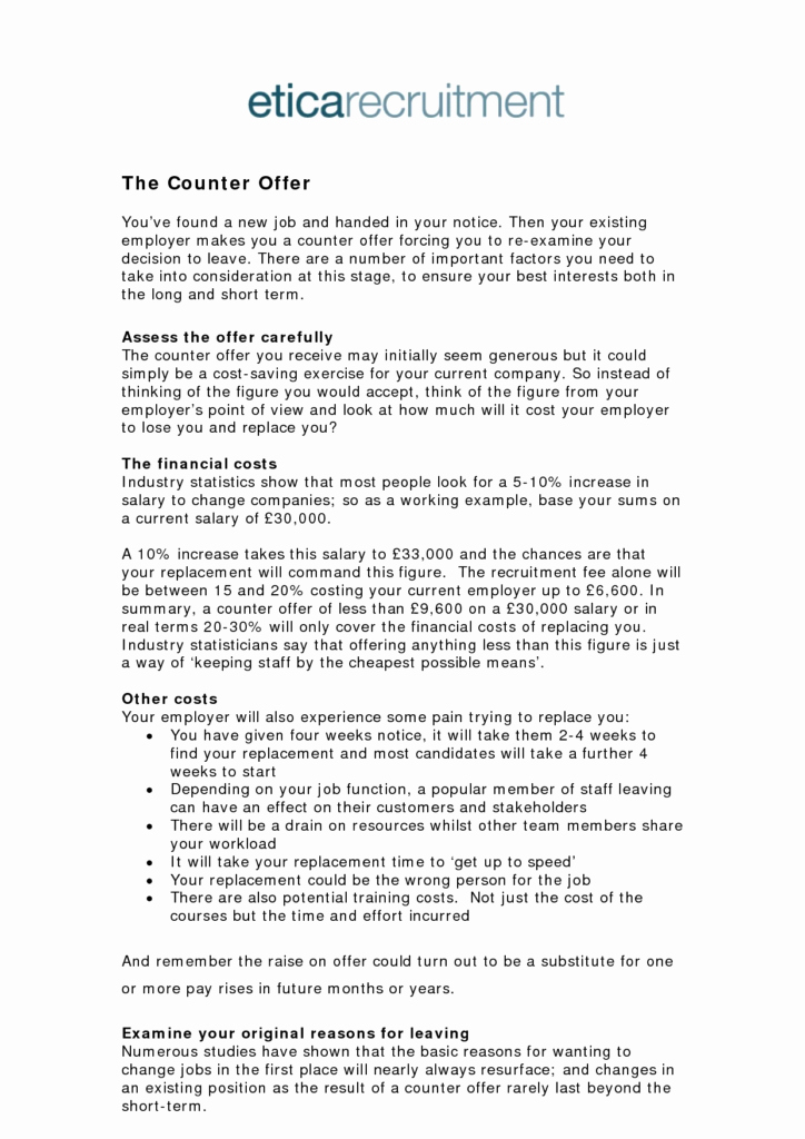 Counter Fer Job Letter Sample Save Sample Salary