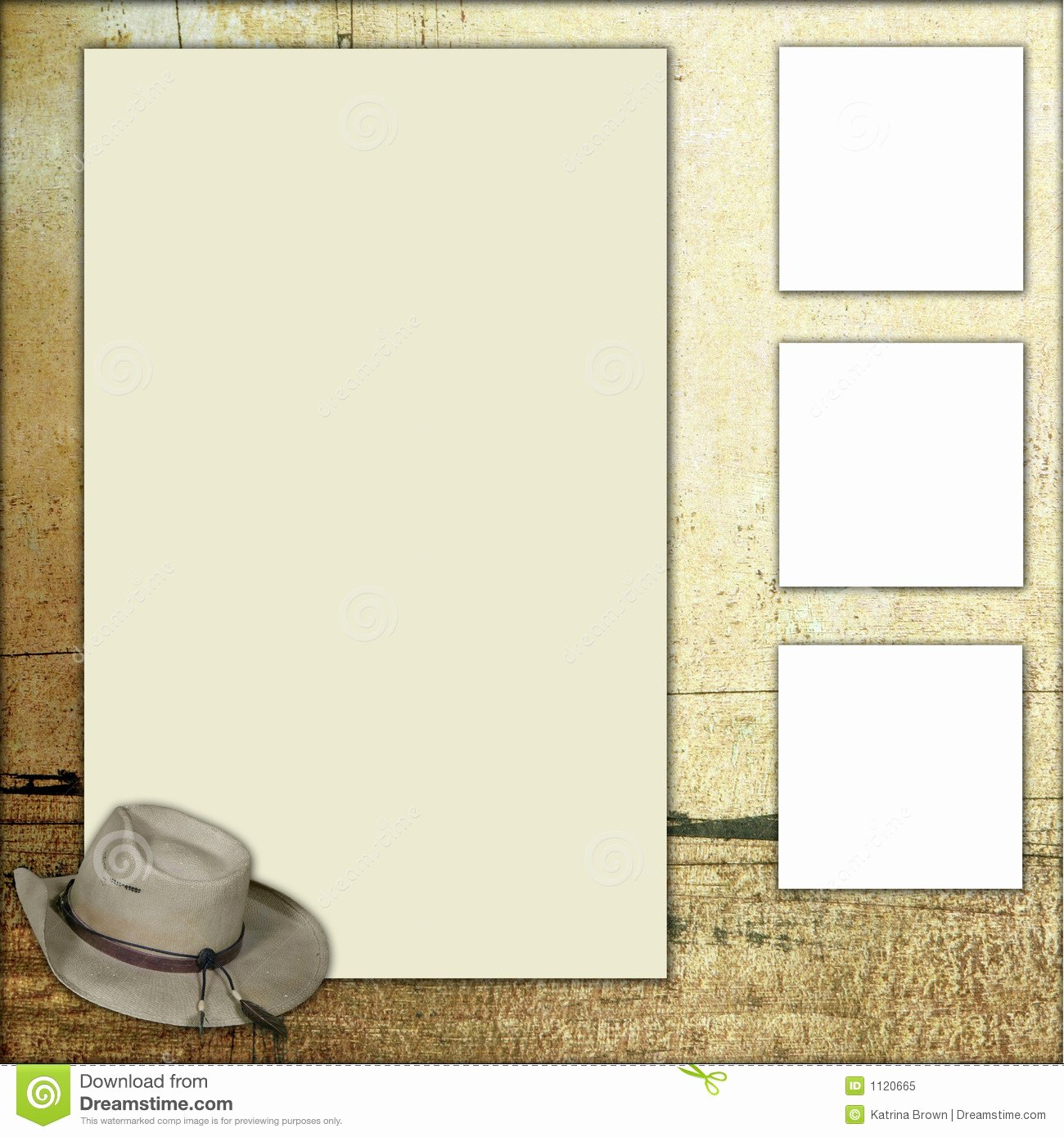 Country theme Scrapbook Frame Template Stock Illustration