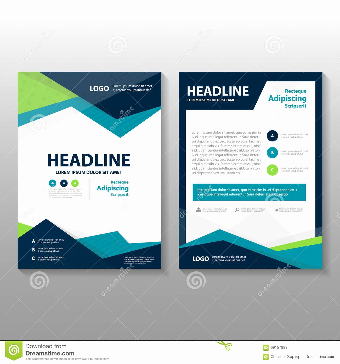 Cover Annual Report Cartoon Vector