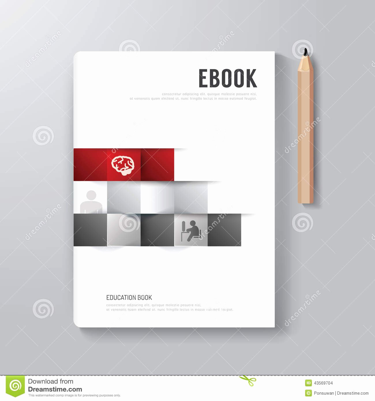Cover Book Digital Design Minimal Style Template Stock
