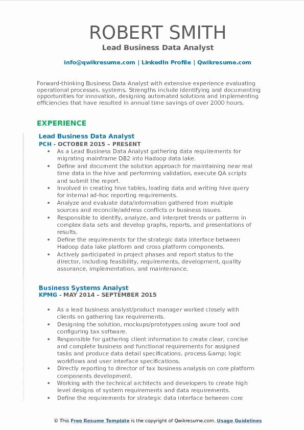 Cover Letter and Resume Template for Data Analysts Lovely