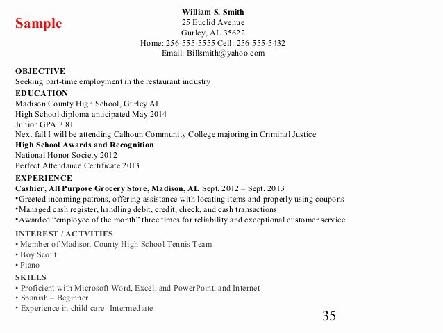 Cover Letter and Resume Writing for High School Students