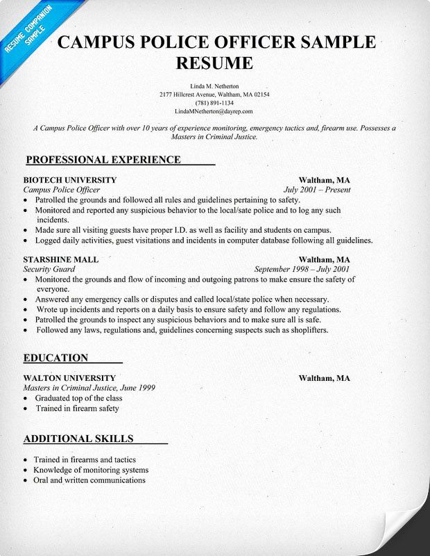 Cover Letter Example Police Captain Cover Letter Example