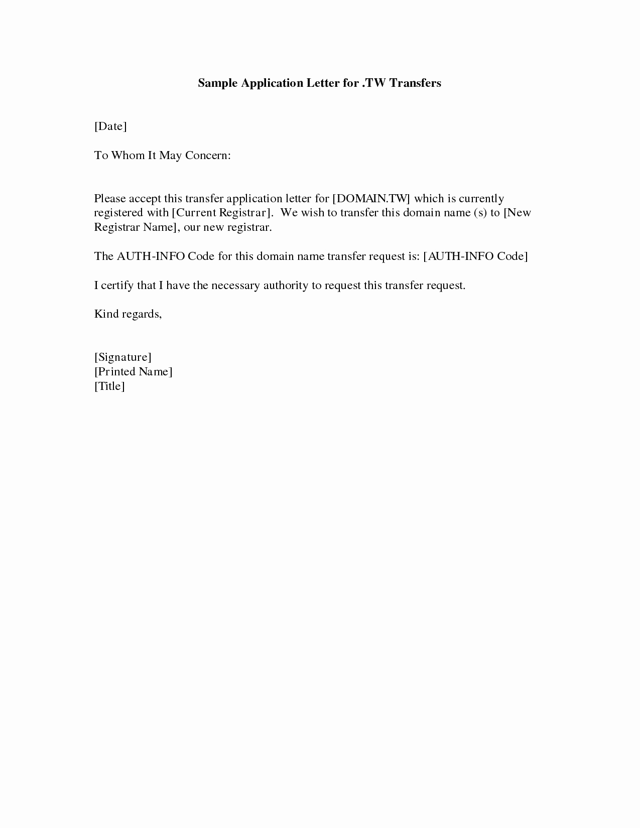 Cover Letter Example Simple Cover Letter Example for Job