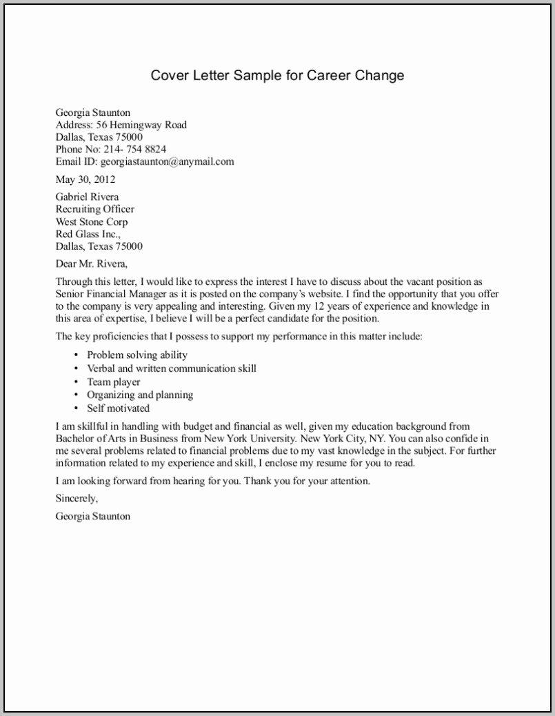 Cover Letter Examples Career Change Uk Cover Letter