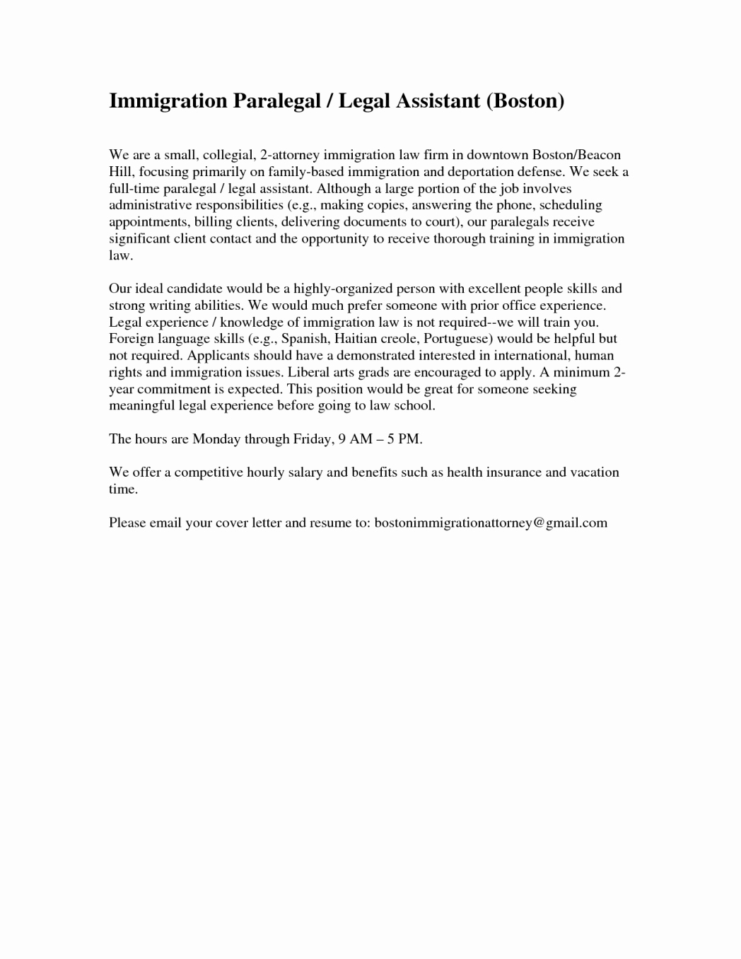 Cover Letter Examples for Legal Counsel