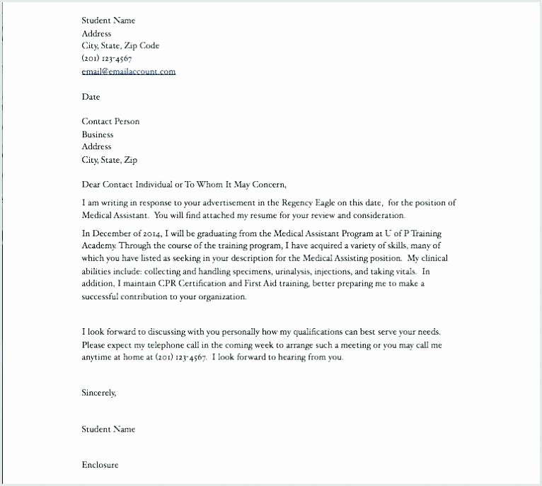 Cover Letter Examples for Medical assistant Externship