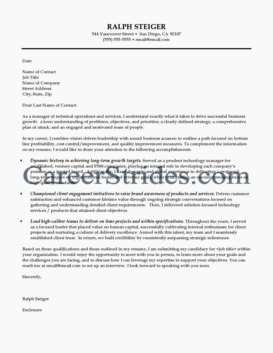 cover letter for a technical writer