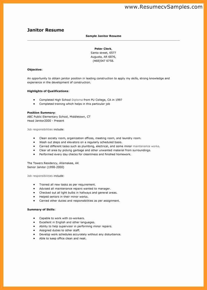 Cover Letter for Custodial Position