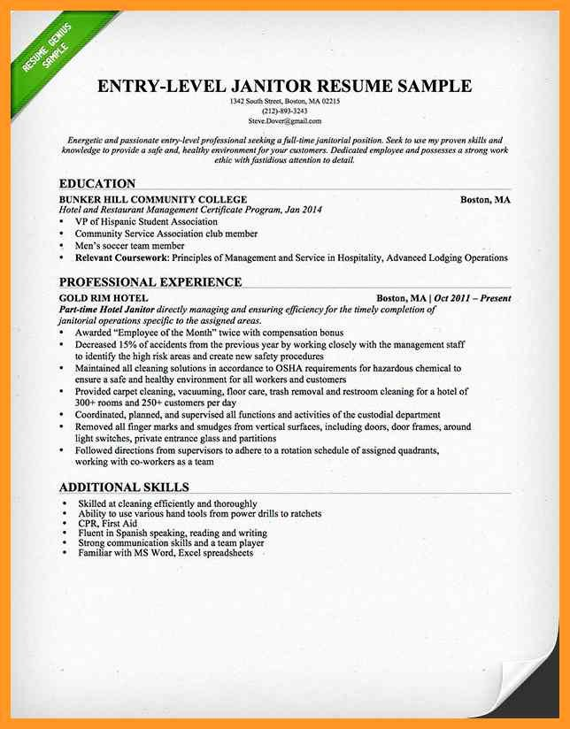 Cover Letter for Custodial Position