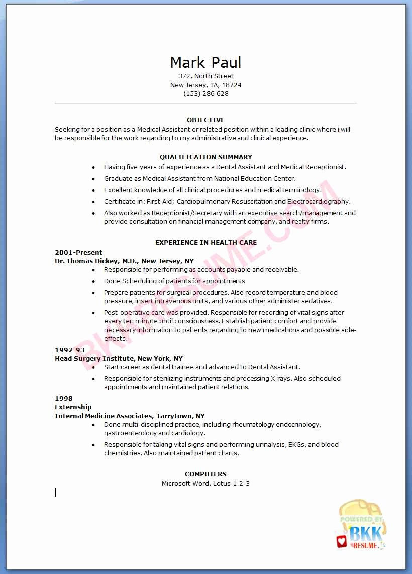 Cover Letter for Dental assistant