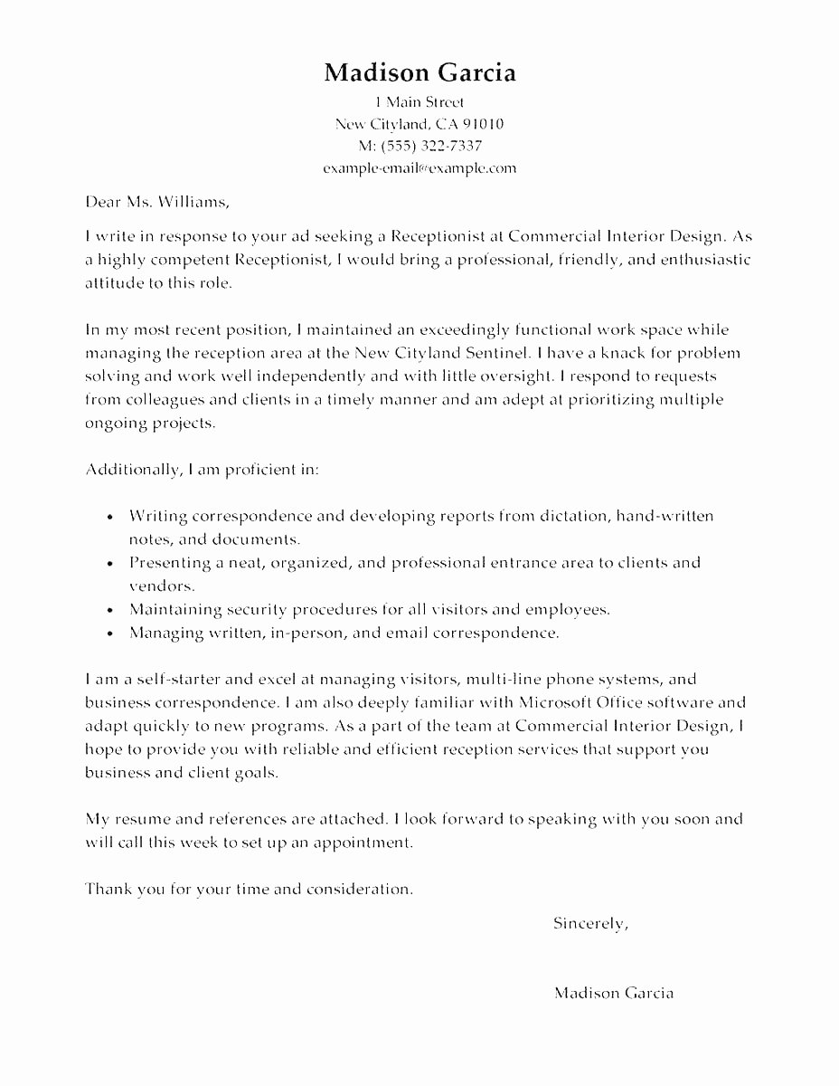 Cover Letter for General Maintenance Worker