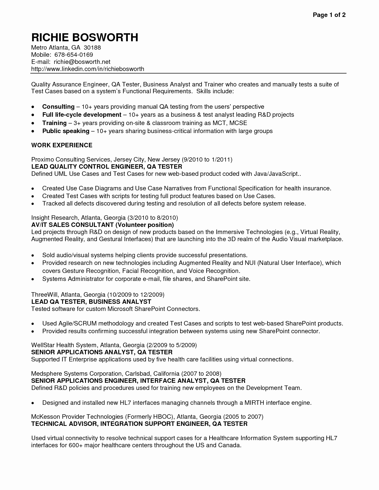 Cover Letter for Qa Tester Cover Letter Samples Cover