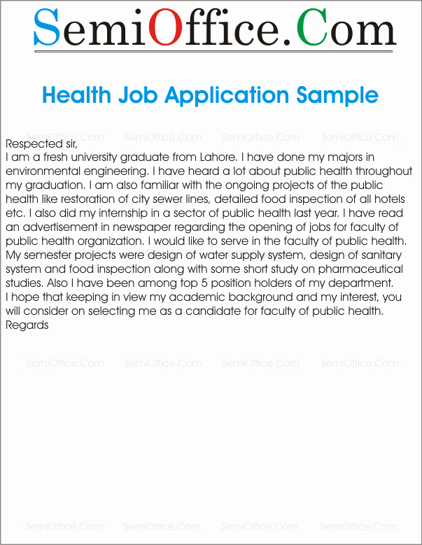 Cover Letter for University Graduate for Faculty Public