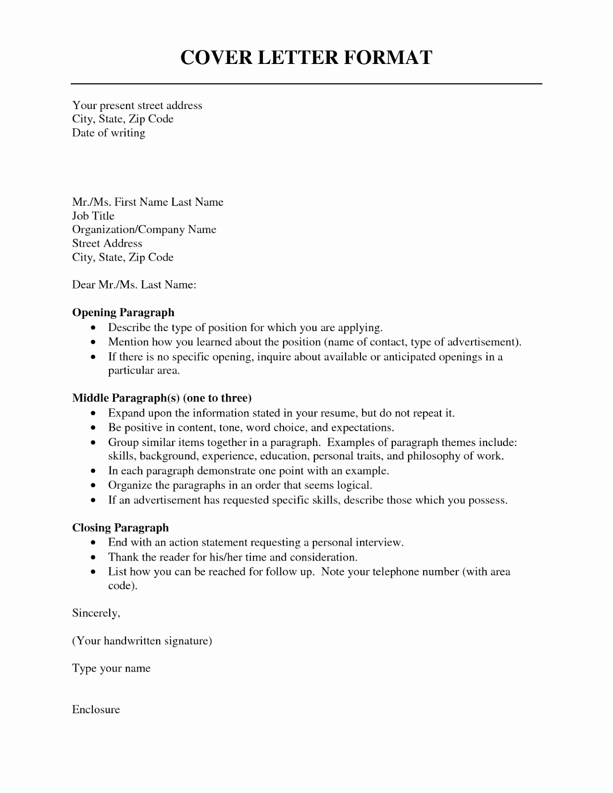 Cover Letter format Resume Cv Example Template
