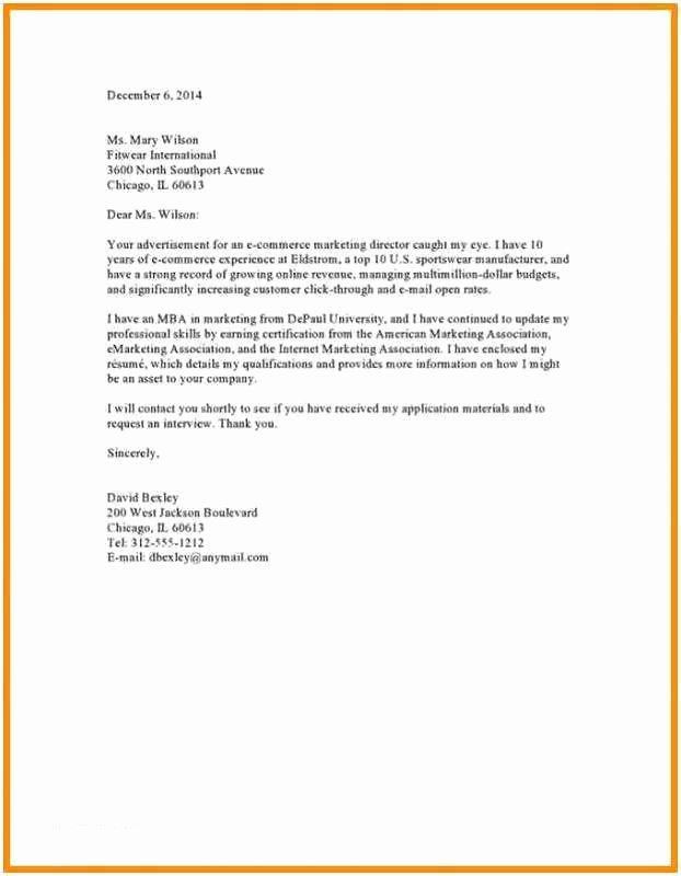 Cover Letter Google Docs