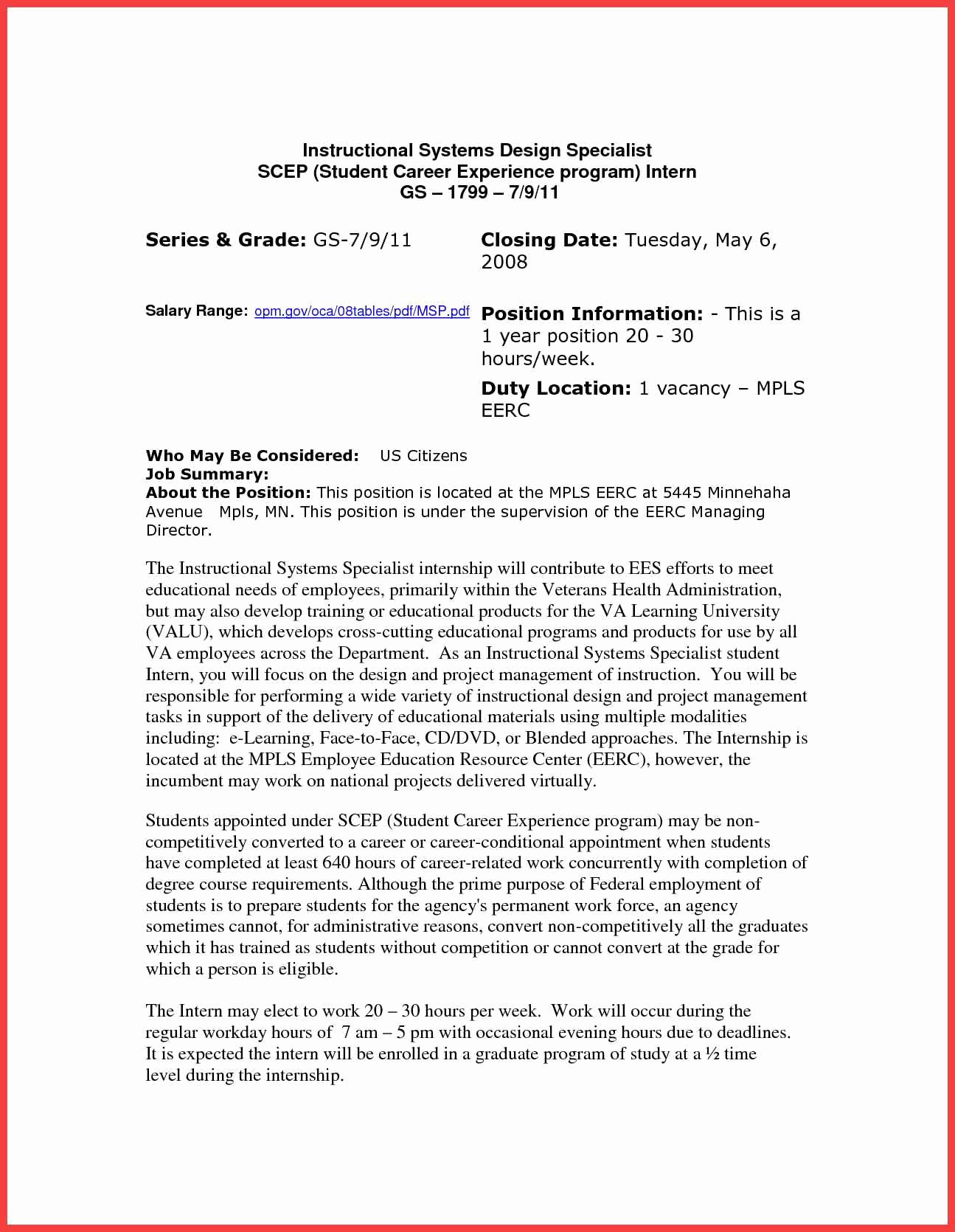 Cover Letter Government Job
