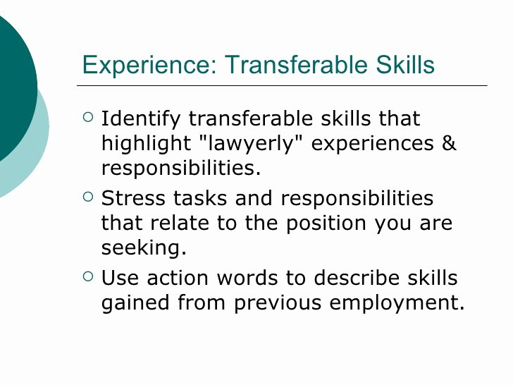 Cover Letter Highlighting Transferable Skills