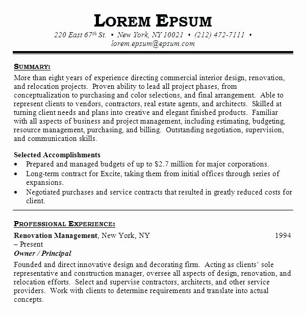 Cover Letter Interior Design Student