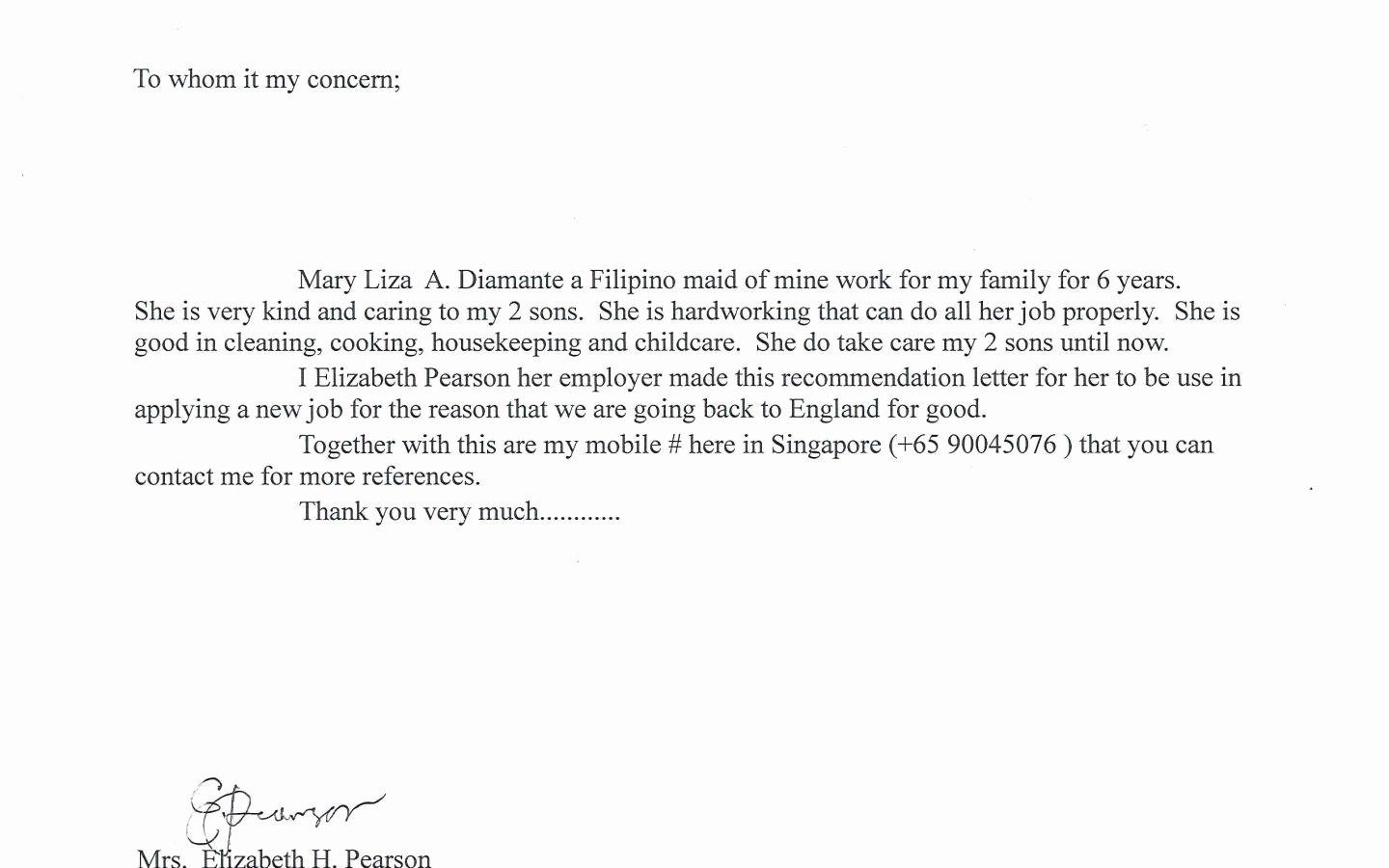 Nanny and Caregiver Cover Letter Samples – Latter Example ...