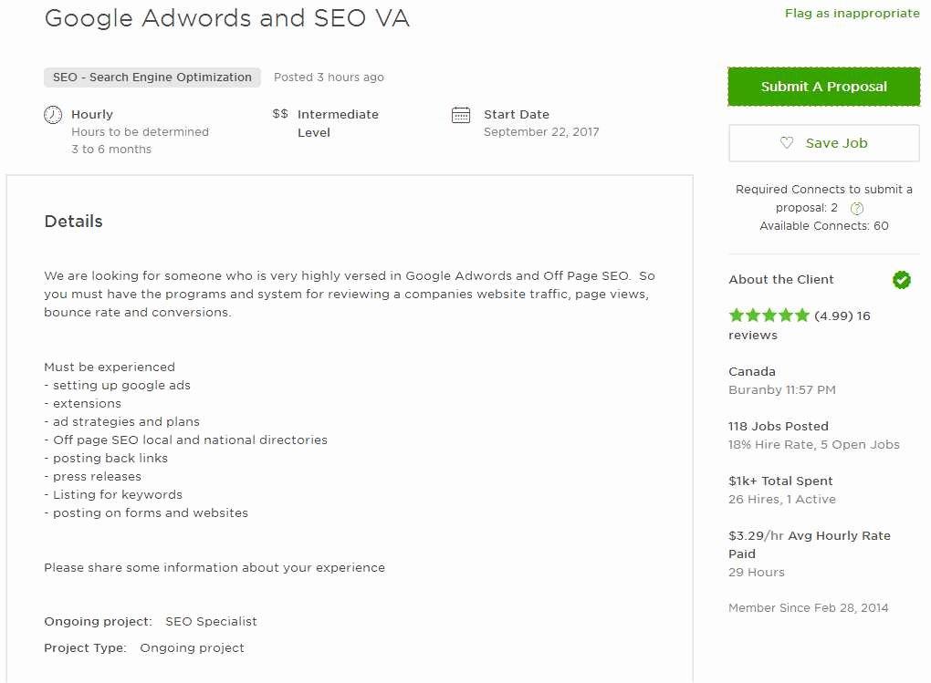 Cover Letter Sample for Va Virtual assistant Upwork Help